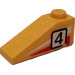 """LEGO Slope 25° (33) 1 x 3 with """"4"""" (Right) Sticker (4286)"""