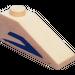 LEGO Slope 25° (33) 1 x 3 with Blue Mandalorian Angle (Left) Sticker (4286)