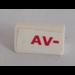 LEGO Slope 31° 1 x 2 with 'AV-' Sticker (85984)