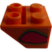LEGO Slope 45° 2 x 2 Inverted with Red Flame-Bubble (Left) Sticker (3660)