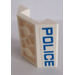 LEGO Slope 45° 4 x 4 Double Inverted with Open Center with 'POLICE' on two sides Sticker (2 Holes) (4854)