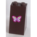 LEGO Slope 75° 2 x 2 x 3 with Lavender, White, Lime and Magenta Butterfly Sticker (98560)