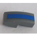 LEGO Slope Curved 1 x 2 x 0.66 with Blue Stripe Sticker (11477)