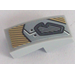 LEGO Slope Curved 1 x 2 x 0.66 with Gray Eye Cover and Metallic Gold Decorative Pattern Sticker (11477)