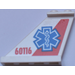LEGO Tail 4 x 1 x 3 with Blue EMT Star Left from Set 60116 Sticker (2340)