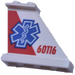 LEGO Tail 4 x 1 x 3 with Blue EMT Star right from Set 60116 Sticker (2340)