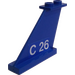 LEGO Tail 4 x 1 x 3 with C 26 Tail Number (Left) Sticker (2340)