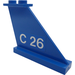 LEGO Tail 4 x 1 x 3 with C 26 Tail Number (Right) Sticker (2340)