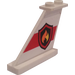 LEGO Tail 4 x 1 x 3 with Fire Badge on Red Stripe (Left) Sticker (2340)