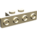LEGO Tan Bracket 1 x 2 - 1 x 4 with Rounded Corners and Square Corners
