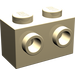 LEGO Tan Brick 1 x 2 with Studs on Opposite Sides