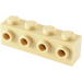 LEGO Tan Brick 1 x 4 with 4 Studs on One Side (30414)