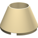 LEGO Tan Cone 4 x 4 x 2 Hollow Studless (4742)