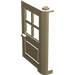 LEGO Tan Door 1 x 4 x 5 with 4 Panes with 2 Points on Pivot