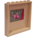 LEGO Tan Panel 1 x 6 x 5 with Girl on Swing Painting Sticker