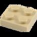 LEGO Tan Plate 2 x 2 (3022)