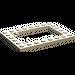 LEGO Tan Plate 6 x 8 Trap Door Frame Flush Pin Holders (92107)