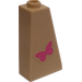 LEGO Tan Slope 75 2 x 1 x 3 with Pink Butterfly Sticker