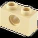 LEGO Tan Technic Brick 1 x 2 with Hole (3700)