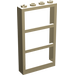 LEGO Tan Window 1 x 4 x 6 Frame with Three Panes