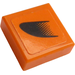 LEGO Tile 1 x 1 with Black Symbol on Orange Right Sticker with Groove (3070)