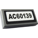 "LEGO Tile 1 x 2 with ""AC60139"" Sticker with Groove (3069)"