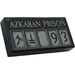 LEGO Tile 1 x 2 with 'AZKABAN PRISON' and '93' with Groove (3069)