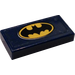 LEGO Tile 1 x 2 with Batman Logo License Plate Sticker (3069)