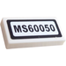 "LEGO Tile 1 x 2 with ""MS60050"" Sticker with Groove (3069)"