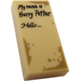 LEGO Tile 1 x 2 with 'My name is Harry Potter' and 'Hello' with Groove (3069)