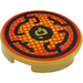 LEGO Tile 2 x 2 Round with Black Circular Lines and Asian Character with Bottom Stud Holder (14769 / 36593)