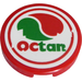 LEGO Tile 2 x 2 Round with 'OCTAN' Logo Sticker with Bottom Stud Holder (14769)