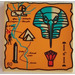 LEGO Tile 2 x 2 (Undetermined Groove) with Hieroglyphs and Map