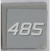 LEGO Tile 2 x 2 with '485' Sticker (3068)