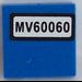 LEGO Tile 2 x 2 with 'MV60060' Sticker (3068)