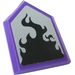 LEGO Tile 2 x 3 Pentagonal with Black Flame Sticker (22385)