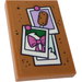 LEGO Tile 2 x 3 with Cork Board, Pictures with Bow and Ice on a Stick Sticker (26603)
