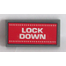 LEGO Tile 2 x 4 with 'LOCK DOWN' Sticker (38879)