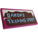 """LEGO Tile 2 x 4 with """"OAKEN'S TRADING POST"""" Sticker (38879)"""