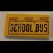 "LEGO Tile 2 x 4 with ""School Bus"" Sticker (38879)"