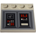 LEGO Tile 4 x 4 with Studs on Edge with Control Panel Sticker (6179)