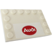 LEGO Tile 4 x 6 with Edge Studs with Audi Sticker (6180)
