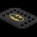 LEGO Tile 4 x 6 with Edge Studs with Batman Logo on Black Background Sticker (6180)