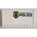 LEGO Tile 6 x 12 with Edge Studs with 'Super Secret Police', Logo on Left Sticker (6178)
