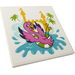 LEGO Tile 6 x 6 with Castle, Palm Trees, Water and Flamingo Sticker with Bottom Tubes (10202)
