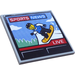 LEGO Tile 6 x 6 with 'SPORT NEWS LIVE' and Snowboarder Sticker with Bottom Tubes (10202)