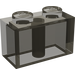 LEGO Transparent Black Brick 1 x 2
