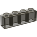 LEGO Transparent Black Brick 1 x 4