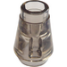 LEGO Transparent Black Cone 1 x 1 with Top Groove (28701 / 64288)