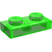 LEGO Transparent Bright Green Plate 1 x 2 (6225)
